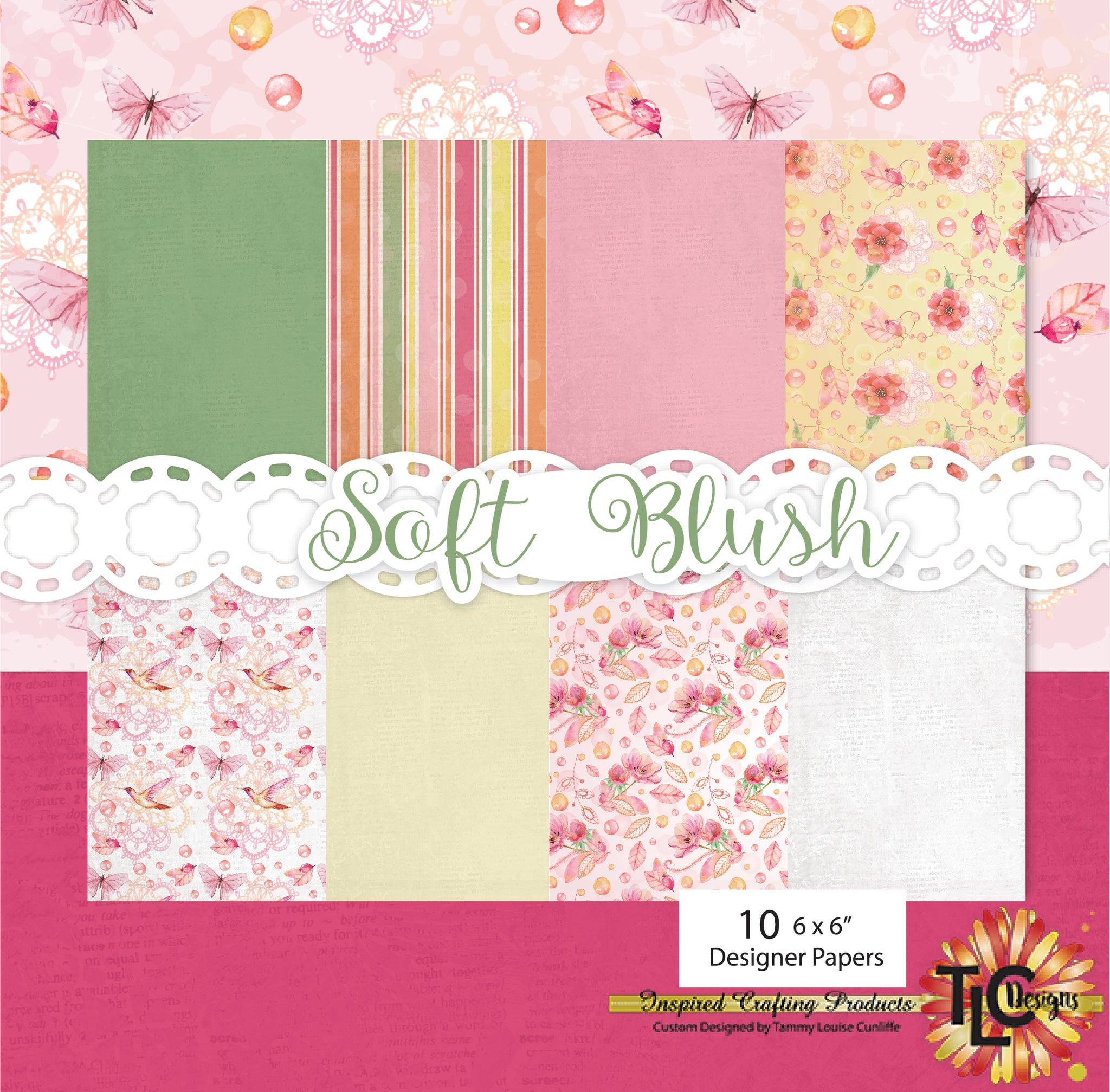 Soft Blush Digital Paper Pack