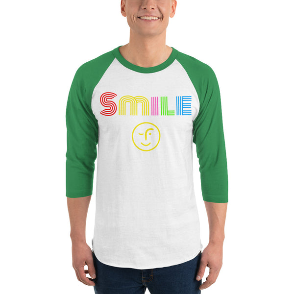 Smile 3/4 sleeve shirt