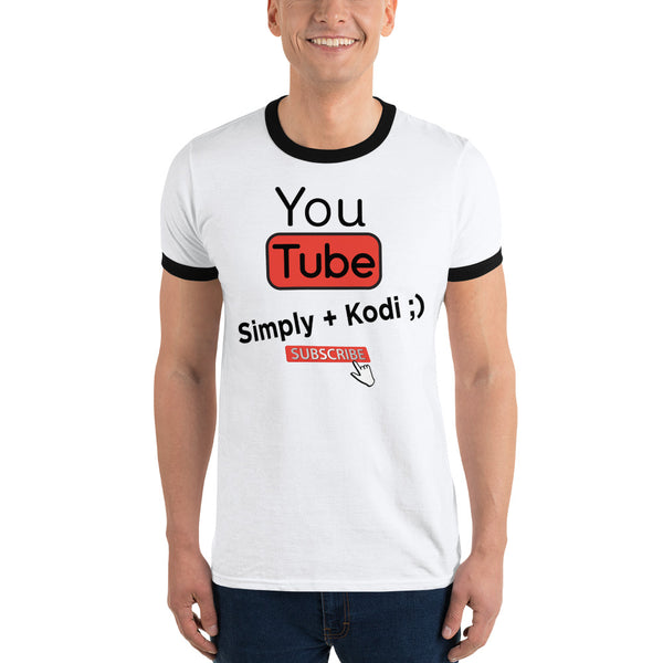 Classic Simply Kodi YouTube Channel Ringer T-Shirt