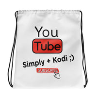 Simply Kodi YouTube Channel Drawstring bag