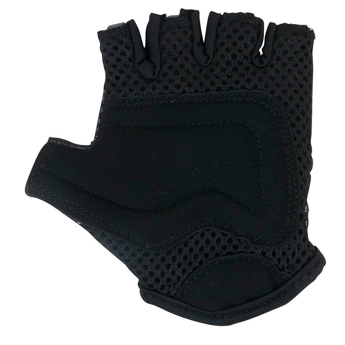 A photo of the palm of our gloves, showing the mesh padding around the knuckle area, and additional padding on the palms