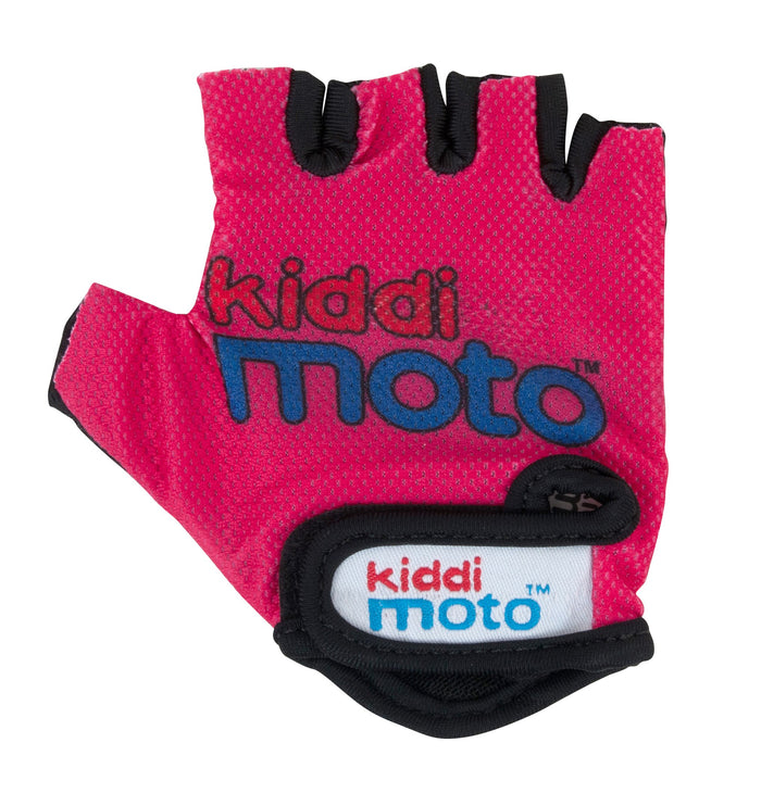 Our Neon Pink gloves are lightweight and fingerless, and feature the Kiddimoto logo on the back of the palms