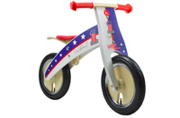 The front go our Evel Knievel Kurve, with a spilt white and blue design, with the number 1 printed on it, alongside Evel Knievel's autograph