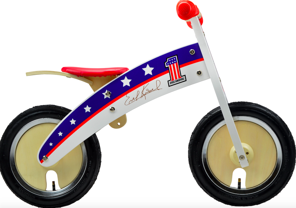 Our Evel Knievel Kurve with red, white and blue stars on the side, and Evel Knievel's autograph