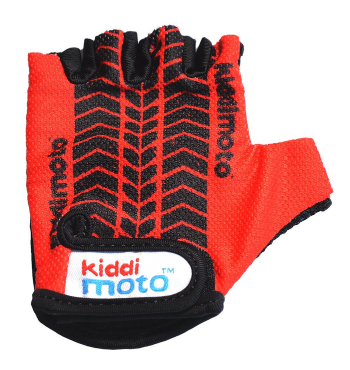 Our Red Tyre gloves are lightweight and fingerless, and feature a black tyre tread design on a red background