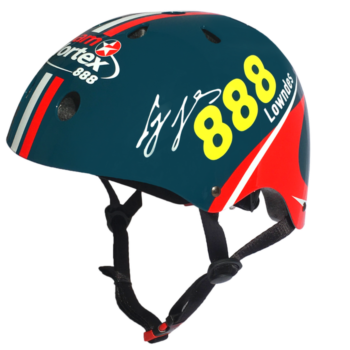 Our Team Vortex helmet features Craig Lowndes' autograph, along with his racing number (888) on the side