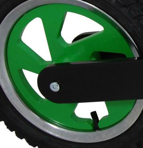 Our Scrambler rims are available in green to suit a Kawasaki themed bike