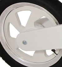 Our Scrambler and Superbike rims also come in white for lighter coloured bikes