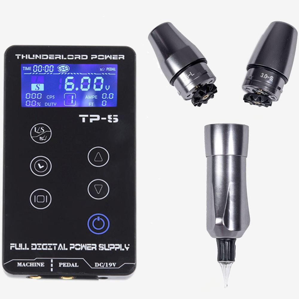 Professional Tattoo Power Supply Thunder TP-5 Digital LCD Screen Display