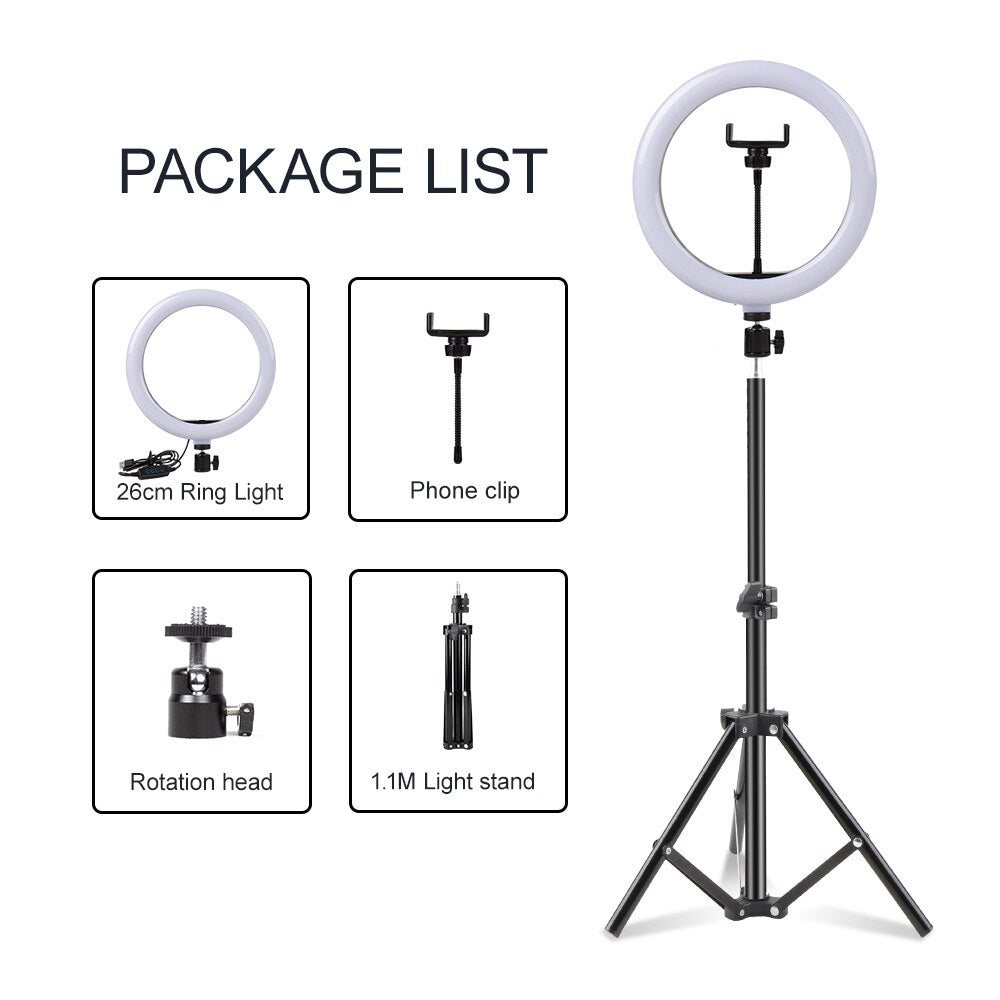 Perfect Light: USB Studio LED Ring Light Kit