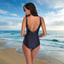 Deep V Backless One Piece Swimsuit With Mermaid Print