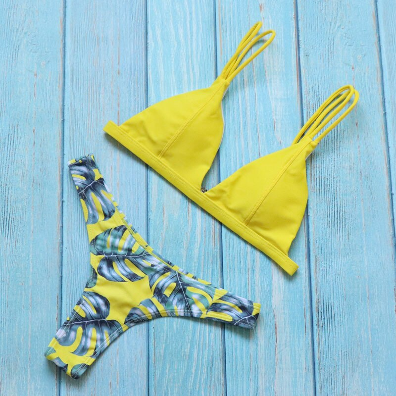 New Brazilian Micro Mix and Match Bikinis Set Sexy Thong Swimwear