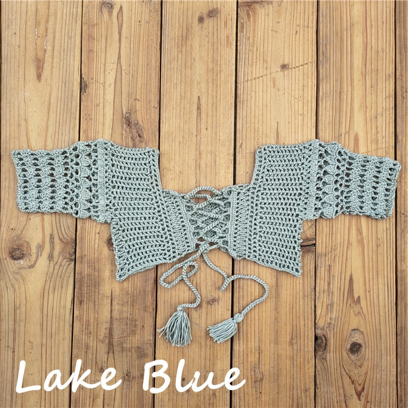 Hand crochet sexy knit swimming top available in 5 colors