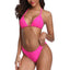 New Micro Bikini With Solid Pattern And Brazilian Halter Style