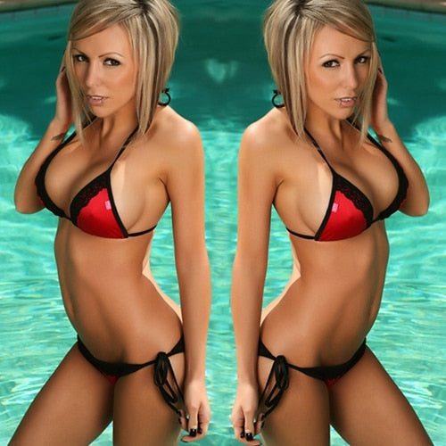 Micro Bikini G String Bikini Set Two Piece Swimsuits Push Up Swimsuit For Female Disponible In 7 Colors