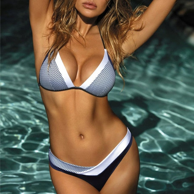 Micro Bikini Set Two Piece Swimsuits Halter Bikini Push Up Swimwear Summer Clothing For Women
