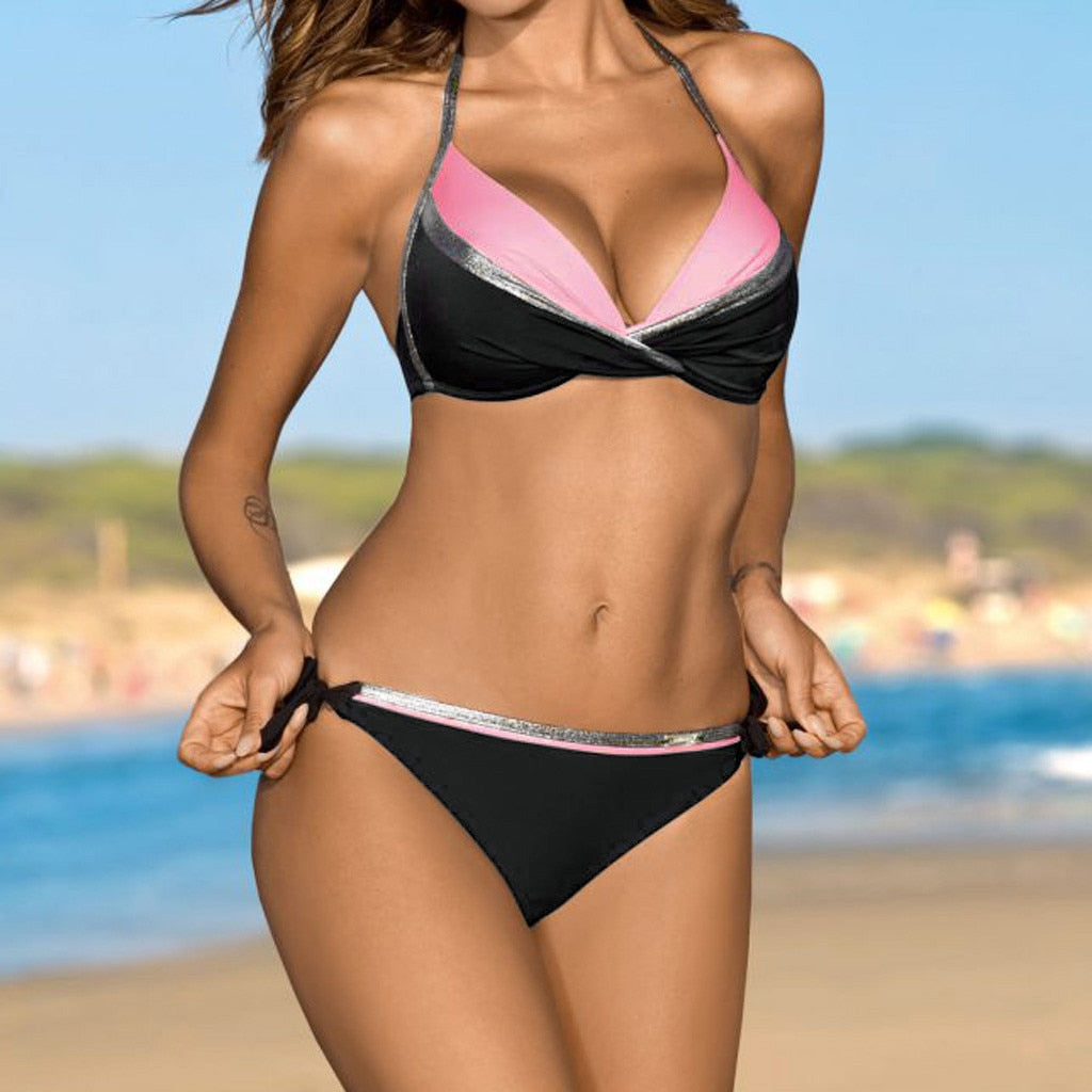Two Piece Bikini Micro Swimsuit For Women Sexy Beach Clothing Bathing Suit High Quality Product