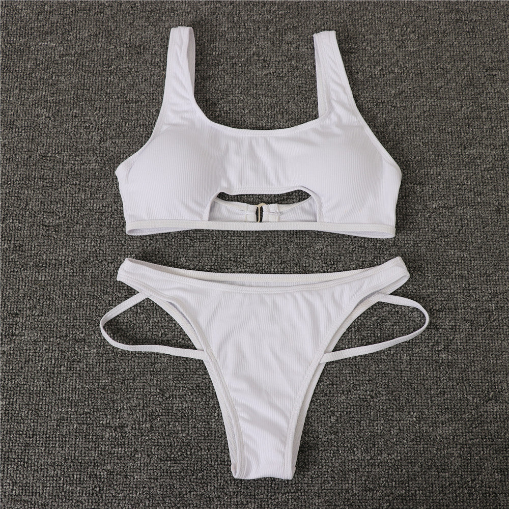 Two Piece Swimsuit Peekaboo Bikini Micro Bikini Set For Women Beach Party Clothing