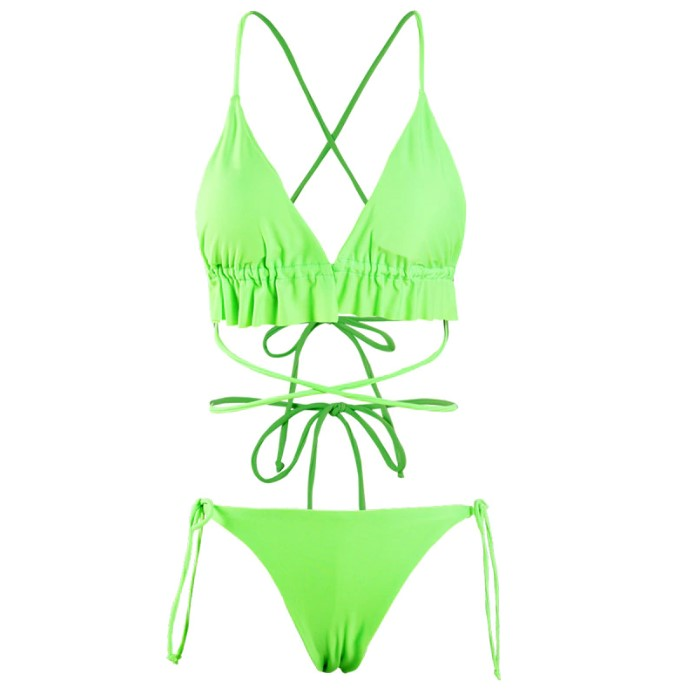 String Micro Bikini Ruffles Swimsuit Available in 4 colors