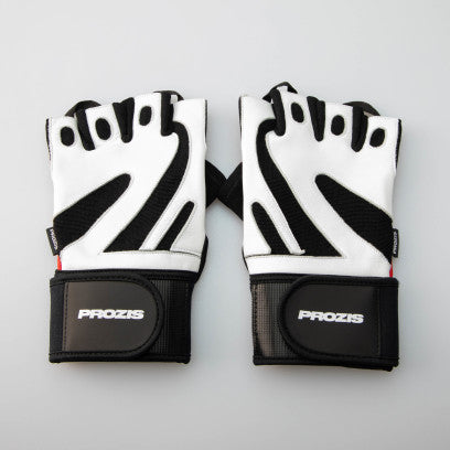 Professional Wrist Protection Gloves - White/Red
