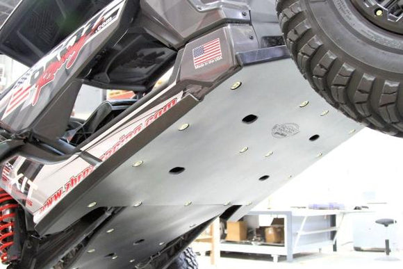 SKID PLATE with ROCKERS - CanAm Maverick X3