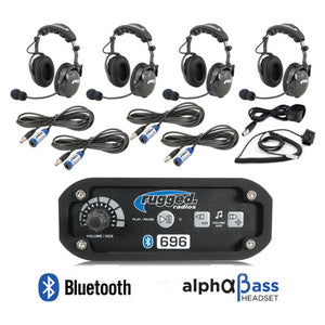 RRP696 4-Place Intercom with AlphaBass Headsets