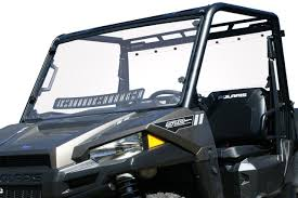 Polaris Ranger Mid-Size (Pro-Fit Cage)Full Vented Windshield w/Hard Coat
