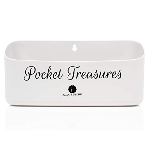 A.J.A. & MORE Pocket Treasures Coin Holder for Laundry – Sturdy Magnetic Quarter Holder – ABS Plastic Storage Case for Pennies, Dimes, Quarters, Nickels & All Coins – Hanging Coin Collector Holder