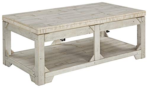 Signature Design by Ashley Fregine Rectangular End Table Whitewash