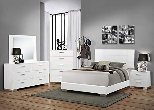 Felicity 5-Drawer Chest Glossy White