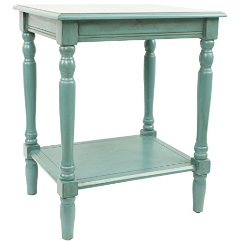 Décor Therapy Simplify End Table Oak Blue