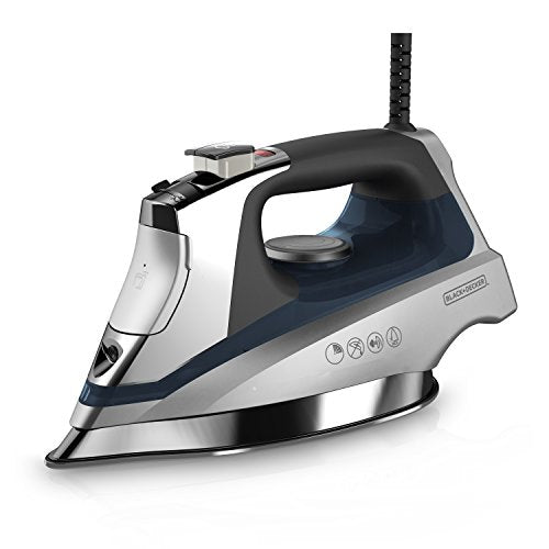 BLACK+DECKER D3030 Allure Professional Steam Iron, Gray/Blue