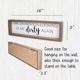 Vilight Laundry Room Decor Rustic Farmhouse Sign Wall Decoration - Funny Housewarming Gifts for New Homeowner - 16x5 Inches