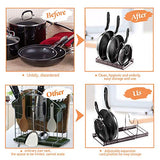 "Pan Organizer,22.25""Kitchen Cookware Pan Pot Lid Organizer Rack Kitchen Pan Organizer Rack Holder Total 7 Adjustable Compartments"