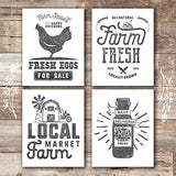 Farmhouse Decor - Kitchen Art Prints (Set of 4) - Unframed - 8x10s