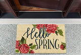 DII Fun Greetings Home Décor Indoor/Outdoor Natural Coir Fiber Doormat, 18 x 30, Hello Spring