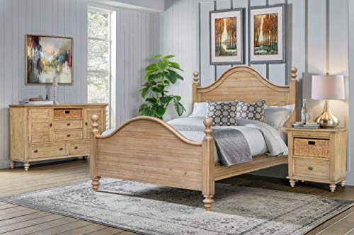 Cottage Creek Crescent Queen 4 Piece Bedroom Solid Wood Farmhouse Set | Assembled