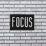 "Focus Motivational Wall Art Decor 6""x4"" Box Sign Gift for Desk Inspirational Rustic Farmhouse Home Kitchen and Office by Break The Chain"