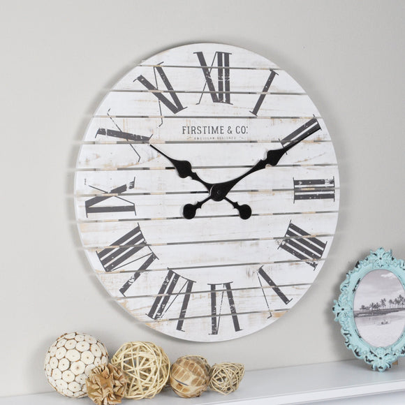 FirsTime & Co. Shiplap Wall Clock, 18