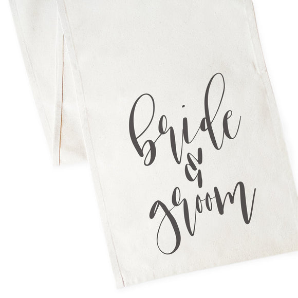 Bride & Groom Cotton Canvas Table Runner
