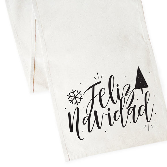 Feliz Navidad Cotton Canvas Table Runner
