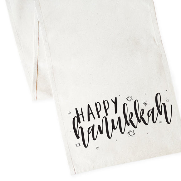 Happy Hanukkah Canvas Table Runner