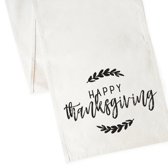 Happy Thanksgiving Canvas Table Runner