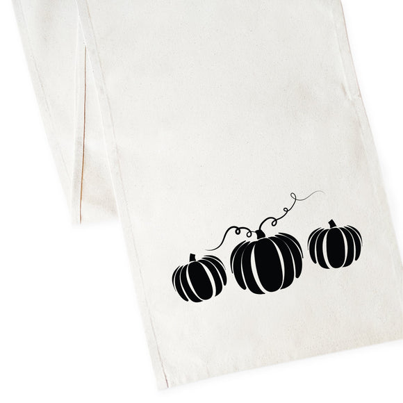 Pumpkin Cotton Canvas Table Runner