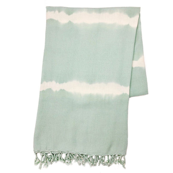 Mint Tie Dye Turkish Beach Towel