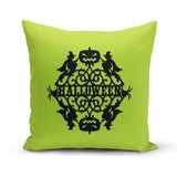 Green Halloween Throw Pillow Cover