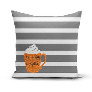 Pumpkin Spice, Everything Nice Throw Pillow Cover