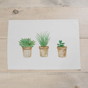 Succulent Pots Watercolor Placemat