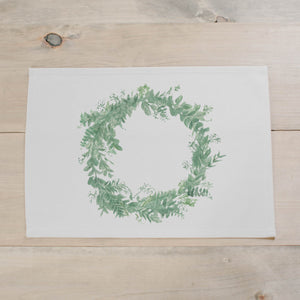 Floral Wreath Watercolor Placemat