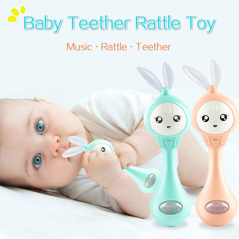 Baby Music Flashing Teether Rattle Toys